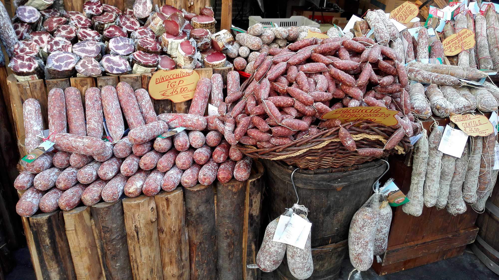 Genuine tuscan salami